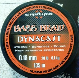 Леска плетёная Sakura Bass Braid Dynacast 135 м